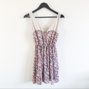 UO | Pins & Needles Floral Chiffon Dress XS